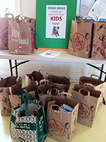 We collect non-perishable food throughout the year to feed our neighbors.